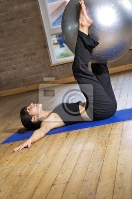 Girl  with a fitball