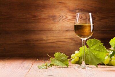 Canvas print Glass of white wine.