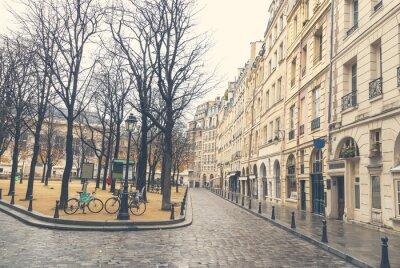 Canvas print Gloomy day in Paris