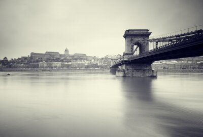 Canvas print Gloomy winter  image of  Hungarian landmarks,