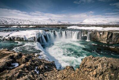 Canvas print Godafoss Wasserfall auf Island