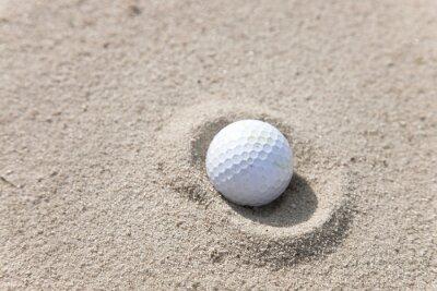Canvas print Golf Ball in Sand Trap