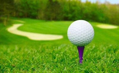 Canvas print Golf ball on course