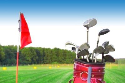 Canvas print Golf game.