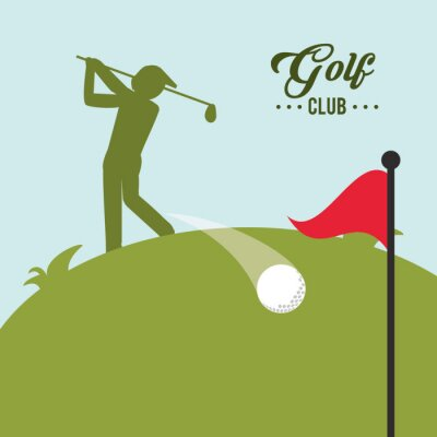 Canvas print Golf icon design