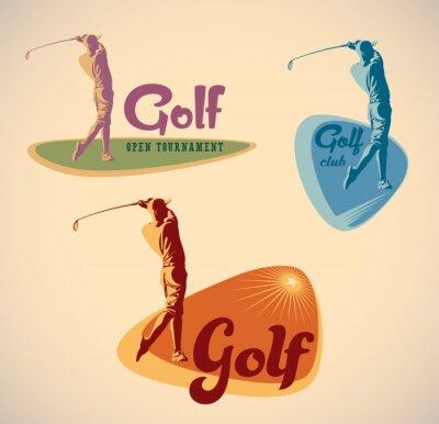 Canvas print Golf labels