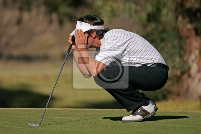 Canvas print golf player