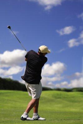 Canvas print golfer