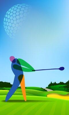 Canvas print Golfer on golf course