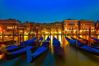 Canvas print Gondola on Grand canal, Venice, Italy
