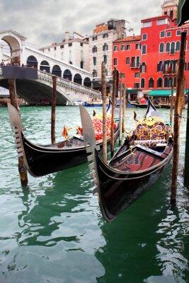 Canvas print Gondolas