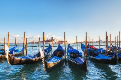 Canvas print Gondolas floating in the Grand Canal