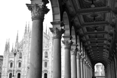 Canvas print Gothic cathedral of Milan, Italy