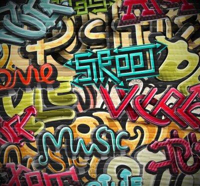 Canvas print Graffiti background