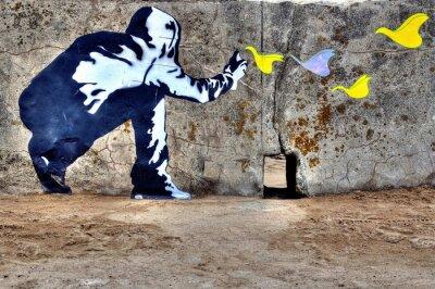Canvas print Graffiti liberté