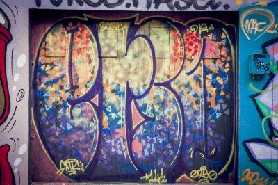 Canvas print Graffitis couleurs pétantes