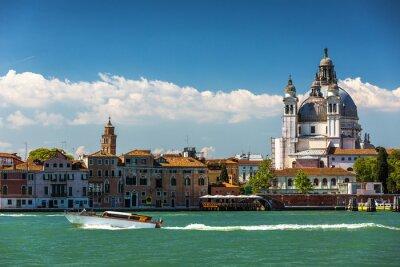 Canvas print Grand Canal and Basilica Santa Maria della Salute, Venice, Italy