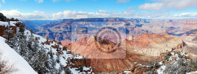 Grand Canyon panorama view in winter
