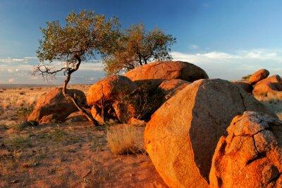 Granite boulders, Brandberg, Namibia