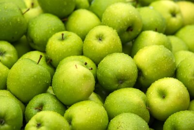 Green apple Raw fruit and vegetable backgrounds