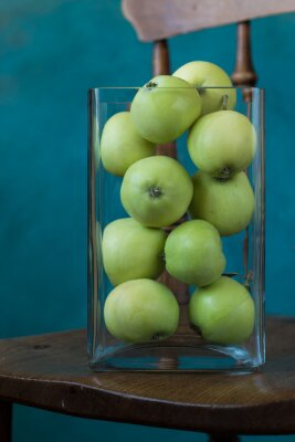 Green apple Raw fruit and vegetable backgrounds healthy organic fresh produce