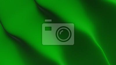 Green flag waving loop. Green flag blowing on wind.