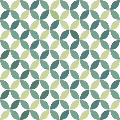 Canvas print Green Geometric Retro Seamless Pattern