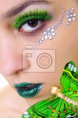 green glitzer