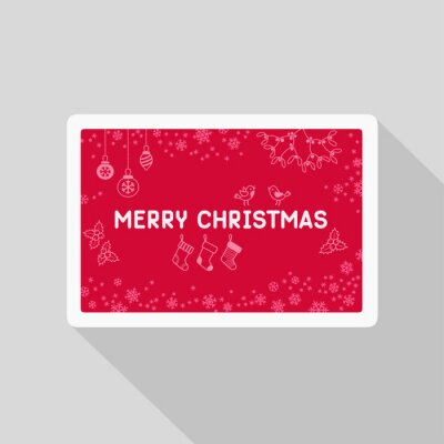 Greeting Christmas card with pattern