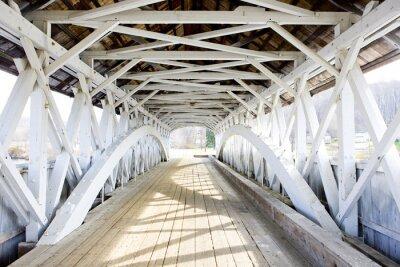 Canvas print Groveton Covered Bridge (1852), New Hampshire, USA