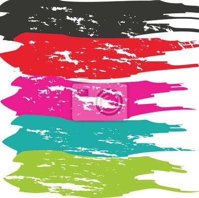 Canvas print Grunge Brush Stroke . Vector Brush Stroke . Distressed Brush Stroke .  Brush Stroke . Modern Textured Brush Stroke . Dry Brush Stroke .