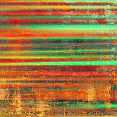 Canvas print Grunge colorful background. With different color patterns: yellow (beige); red (orange); green; black