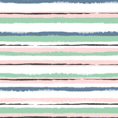 Canvas print Grunge  striped seamless pattern, vintage background, for wrapping, wallpaper, textile