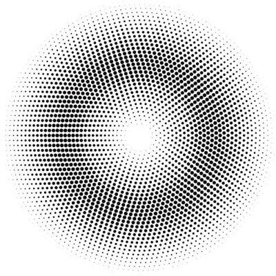Canvas print halftone circle.