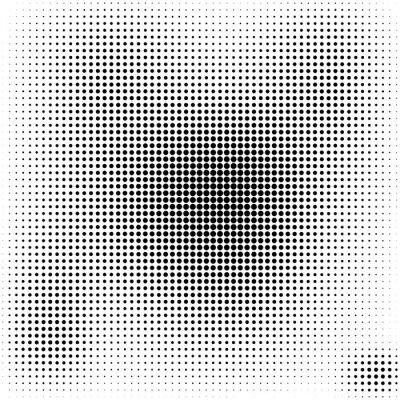 Canvas print Halftone dots  background  black and white stylish