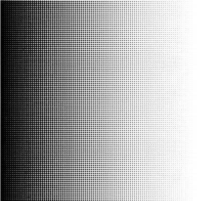 Canvas print Halftone dots gradient in format vector