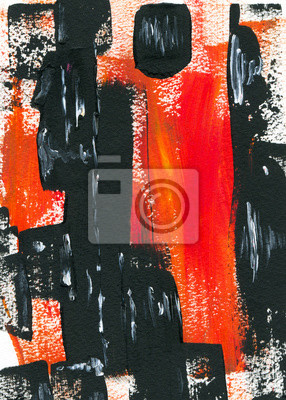 Canvas print Hand drawn color abstraction paining illustration