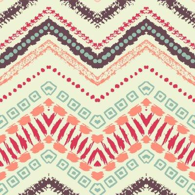 Canvas print Hand drawn painted seamless pattern. illustration