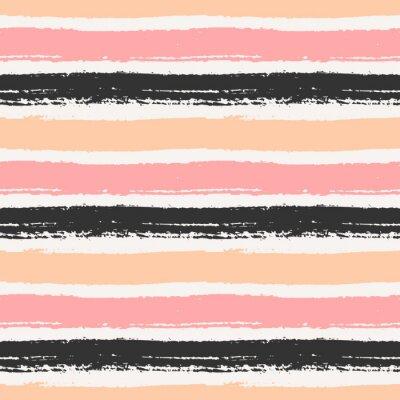 Canvas print Hand Drawn Striped Seamless Pattern