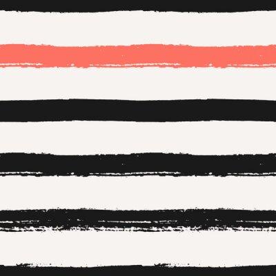 Canvas print Hand Drawn Stripes Seamless Pattern