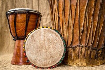 Canvas print handmade djembe drums