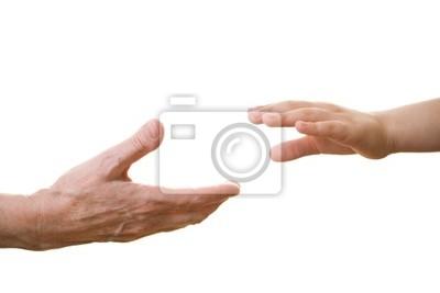 Canvas print hands