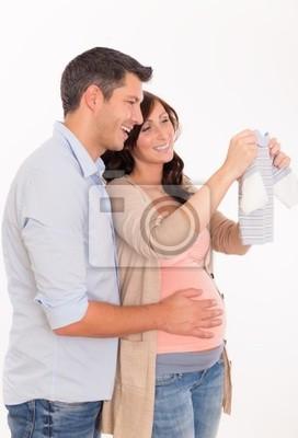 happy expectant parents