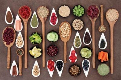 Canvas print Health Food Sampler