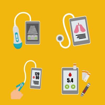 Canvas print Health technology design