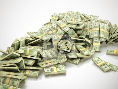 Canvas print Heap of money