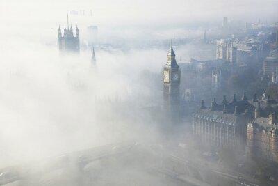 Canvas print Heavy fog hits London
