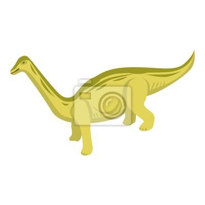 Canvas print Herbivorous dino icon. Isometric of herbivorous dino vector icon for web design isolated on white background