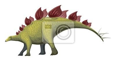 Canvas print Herbivorous Dinosaur - Stegosaurus