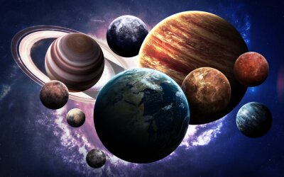 Canvas print High resolution images presents planets of the solar system. This image elements furnished by NASA